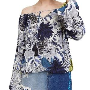 Desigual Floral Off Shoulder Blouse